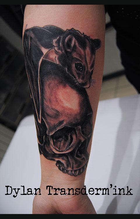 Skull and Bat
