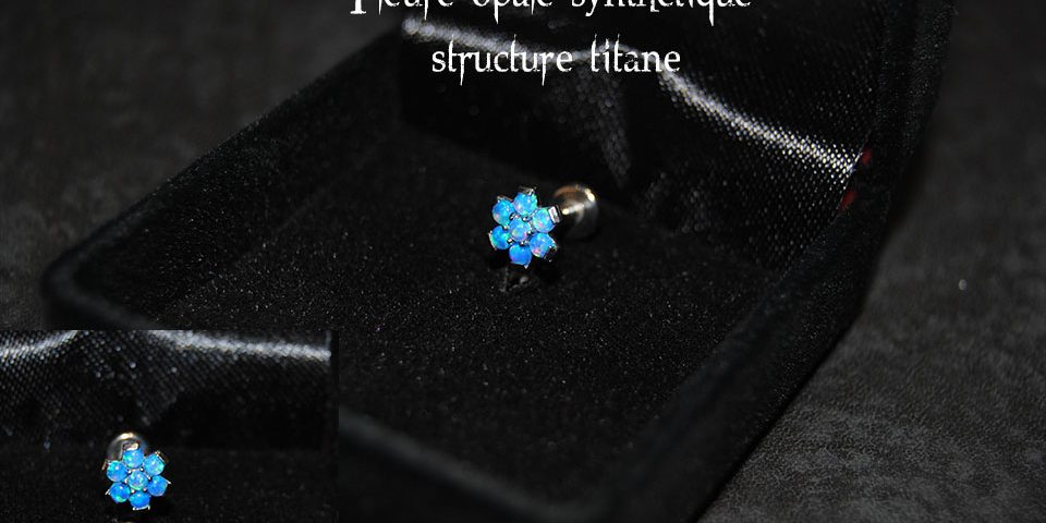 Fleure opale bleu