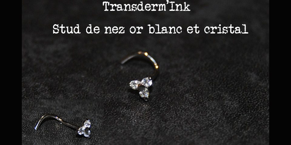Stud or blanc et cristal